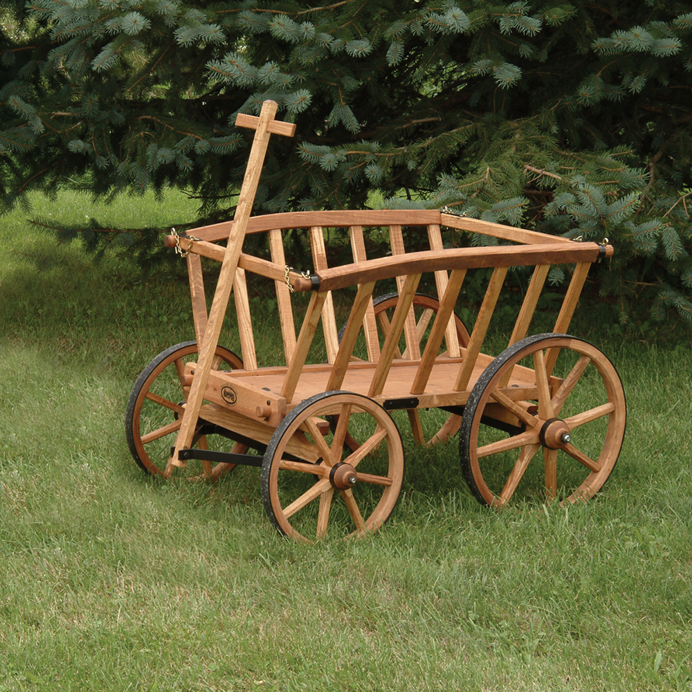 Large Amish-Made Wooden Goat Wagons
