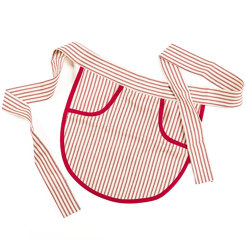 Clothespin Aprons - Red Stripe
