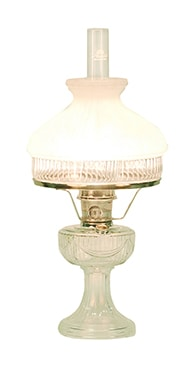 Aladdin Clear Lincoln Drape Oil Lamp Lehman S