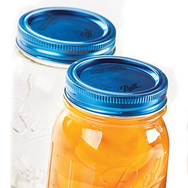 Blue Jar Lids and Bands by Ball