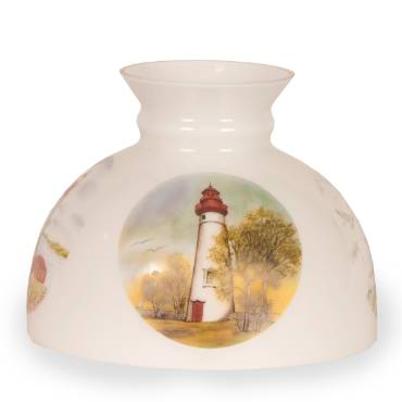 Aladdin Lighthouse Student Glass Oil Lamp Shade