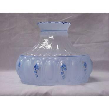 Aladdin Blue Meadow Glass Oil Lamp Shade