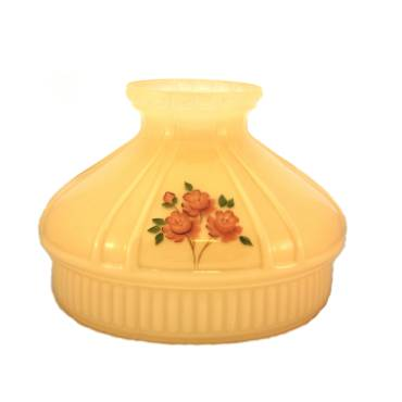 Aladdin Champagne Red Rose Glass Oil Lamp Shade