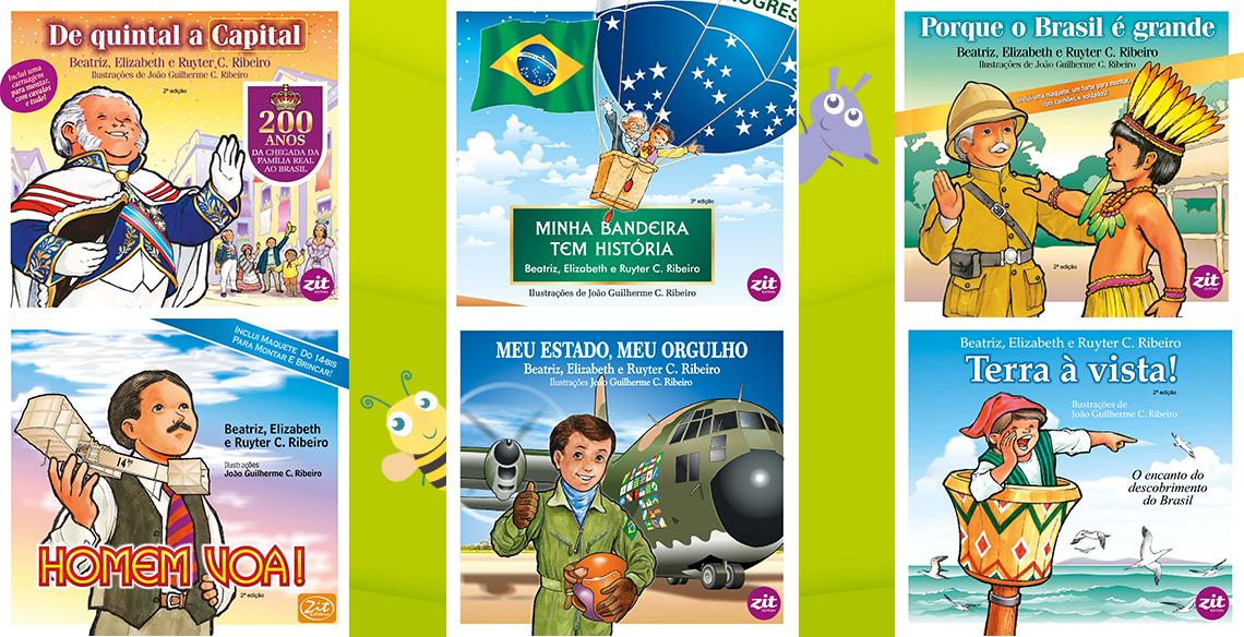 Adesivo De Parede Unicornio Mercado Livre ~ Coleç u00e3o de livros sobre a história do Brasil para crianças Leiturinha