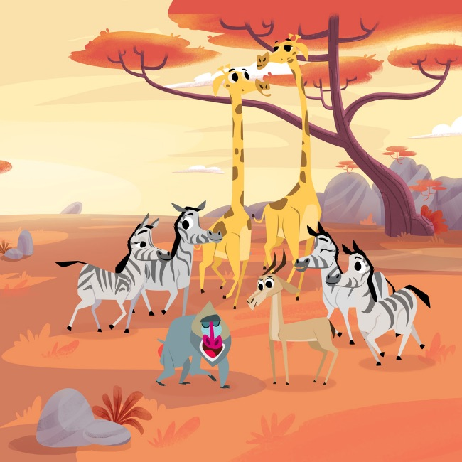 Os animais da Savana em PlayKids Explorer