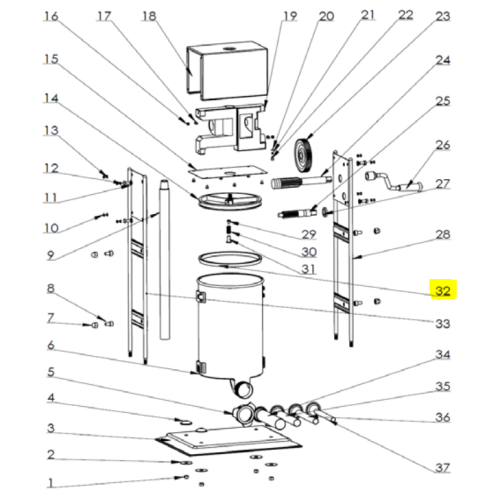 Part - Piston Gasket for 10 Lb Big Bite Dual Gear Stuffer #1112