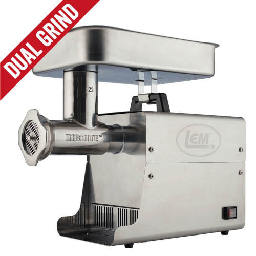 Dual Grind #22 Big Bite Meat Grinder - 1HP