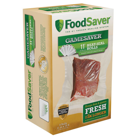 "FoodSaver GameSaver 11"" Heat-Seal Rolls - 6 Rolls"
