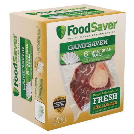 "FoodSaver GameSaver 8"" Heat-Seal Rolls - 6 Rolls"