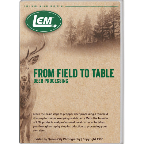Deer Processing From Field To Table DVD