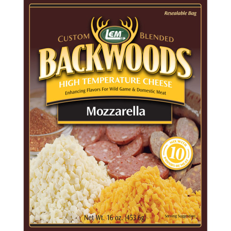 Backwoods High-Temp Mozzarella Cheese - 1 lb.