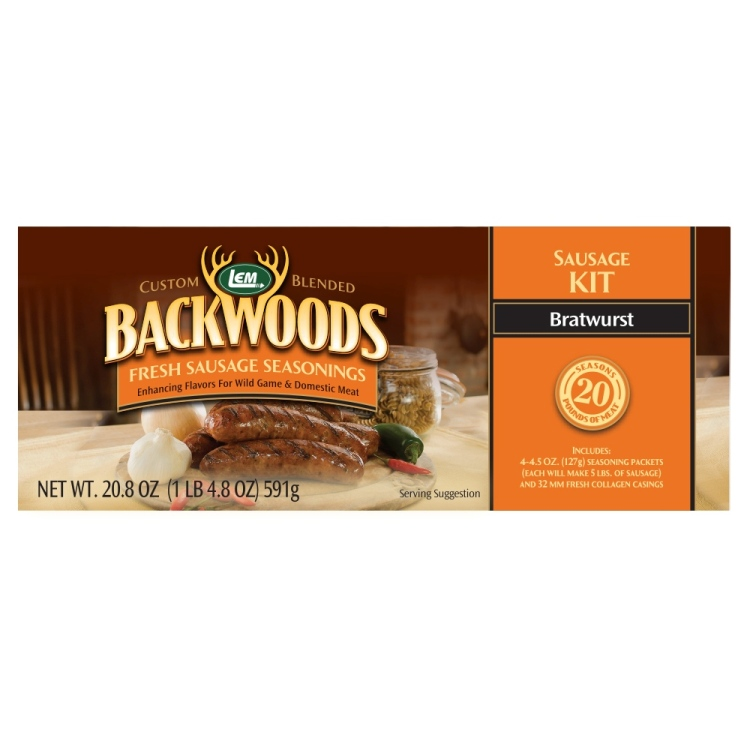 Backwoods Bratwurst Fresh Sausage Kit