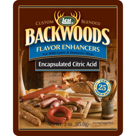 Backwoods Encapsulated Citric Acid - 3 oz. For 25 Pounds Of Meat