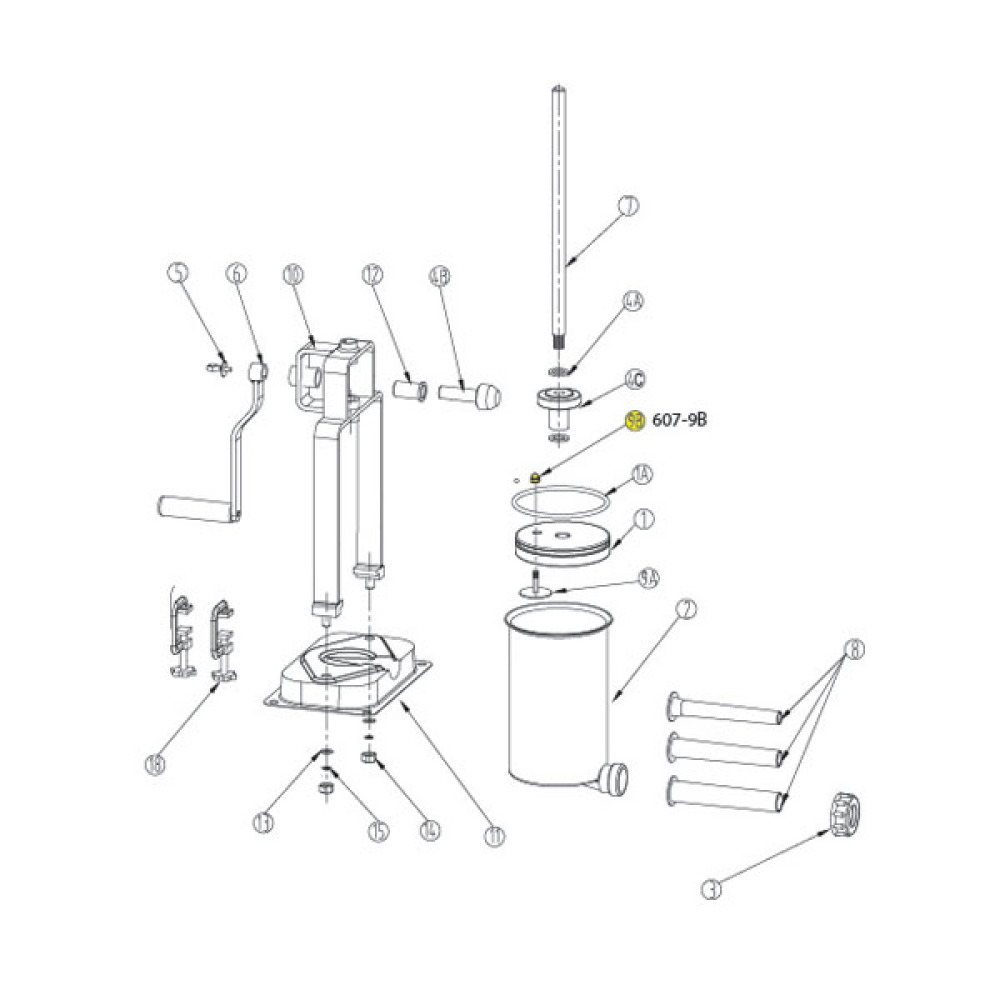 Air Release Valve For 15 Lb Vertical Stuffer 607 607ss Lem Cylinder Schematic