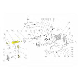 Schematic - Conversion Kit for  # 5 Big Bite Grinder # 777