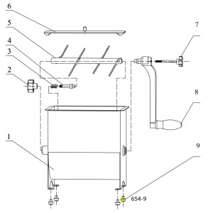 Schematic - Rubber Foot for 20 lb. Mixer # 654