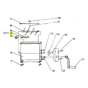 Schematic - Brass Bolt for 20 lb. Manual Mixer # 654