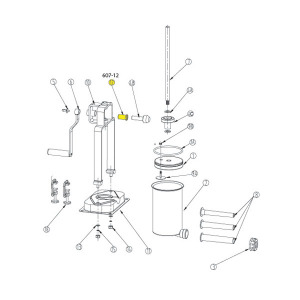 Schematic - Horizontal Gear Bushing for 15 lb. Vertical Stuffer # 607 & 607SS