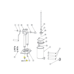 Schematic - Base Washer for 5 lb. Vertical Stuffer # 606 & 606SS