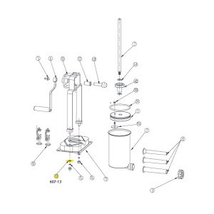Schematic - Base Washer for 15 lb. Vertical Stuffer # 607 & 607SS