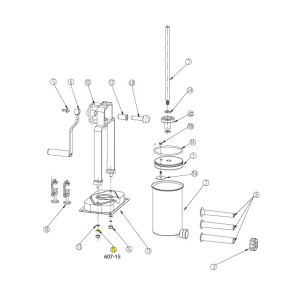 Schematic - Base Lock Washer for 15 lb. Vertical Stuffer # 607 & 607SS