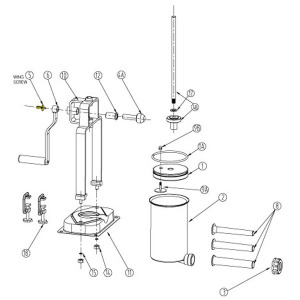 Schematic - Wing Screw for 5 lb. Vertical Stuffer # 606