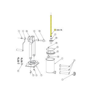 Schematic - Threaded Rod for 5 lb. Vertical Stuffer # 606 & 606SS
