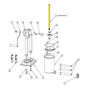 Schematic - Threaded Rod for 15 lb. Vertical Stuffer # 607