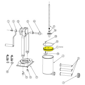 Schematic - Piston for  5 lb. Vertical Stuffer # 606