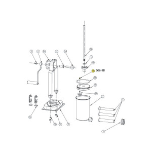 Schematic - Air Release Valve for 5 lb. Vertical Stuffer # 606 & 606SS