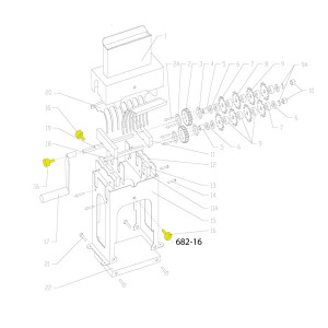 Schematic - Head Bolt for SS Vertical Tenderizer # 682