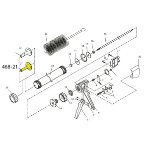 Schematic - Jerky Cannon Snack Stick Replacement Nozzle 1/2 inch