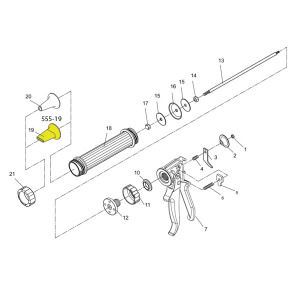 Schematic - Jerky Gun Replacement Flat Nozzle