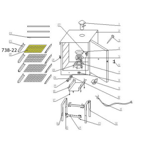 Schematic - Wire Shelf for 20 lb. Smoker # 738