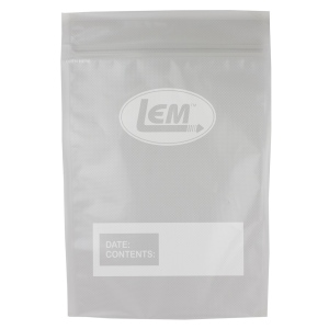 "Zipper Top Vacuum Bags - 8"" x 12"" Quart Size"