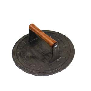 Cast Iron Round Bacon Press