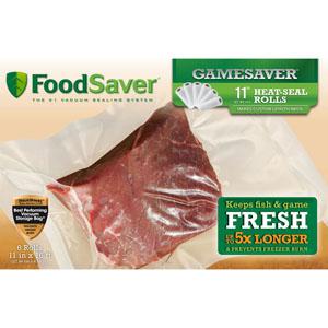 FoodSaver GameSaver 11 inch Heat-Seal Rolls - 6 Rolls
