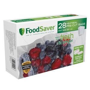 FoodSaver Pint Size Vacuum Bags - 28 Count