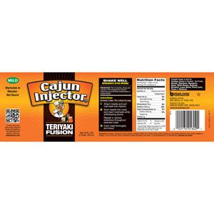 Cajun Injector Teriyaki Fusion Marinade Label