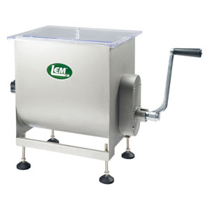 Big Bite Motorized or Manual Meat Mixer - 50 lb. Capacity