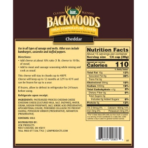 High Temperature Cheddar Cheese Nutritional Info