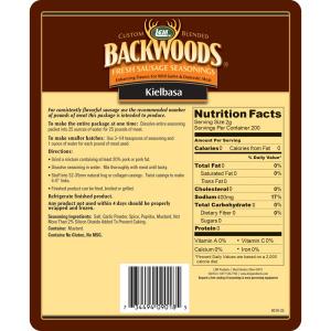 Backwoods Kielbasa Fresh Sausage Seasoning - Makes 5 lbs. - Directions & Nutritional Info