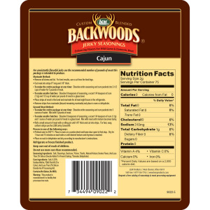Backwoods Cajun Jerky Seasoning - Makes 5 lbs. - Directions & Nutritional Info