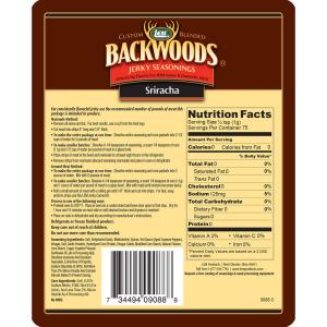 Backwoods Sriracha Jerky Seasoning Makes 5 lbs. Nutritional Info