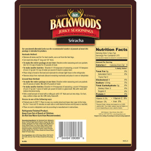 Backwoods Sriracha Jerky Seasoning Makes 25 lbs. Nutritional Info