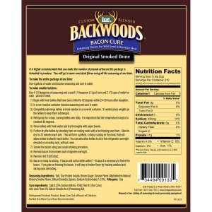 Bacon Cure For Wet Brine With Smoked Flavor Directions & Nutritional Info