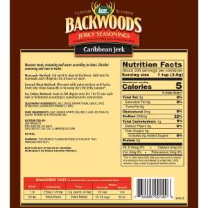 Backwoods 25 LB Caribbean Jerk Jerky Seasoning - Back