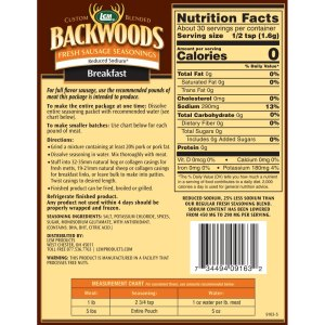 Backwoods Reduced Sodium Fresh Sausage Seasoning