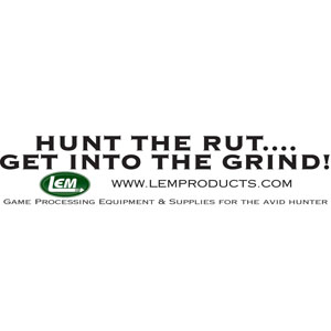 LEM Bumper Sticker - Hunt The Rut. . . Get Into The Grind