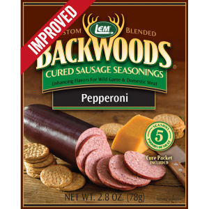 Backwoods Pepperoni Cured Sausage Seasoning - Backwoods Pepperoni Seasoning Makes 25 lbs.